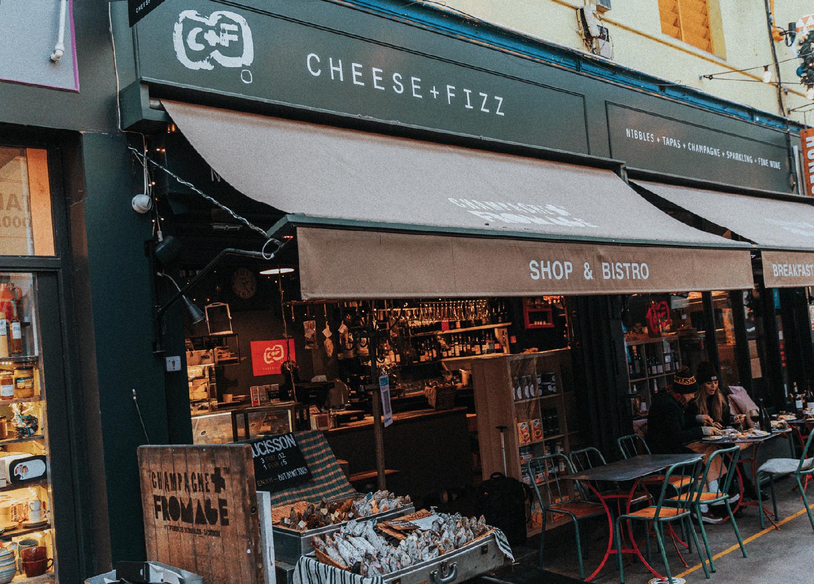 Cheese + Fizz - Brixton - Shop & Bistrot